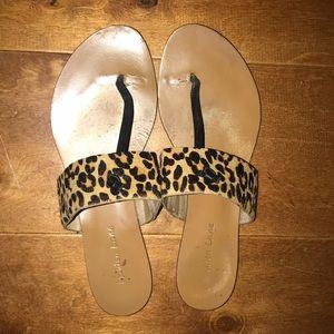 Maiden Lane Nordstrom Calfhair leopard flats 8.5